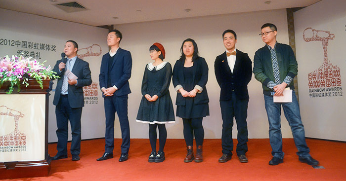 CRMA Organizers (from left to right: Hu Zhijun, Wei Jiangang, Xiao Tie, Wang Shu, Yue Bei, Geng Le)